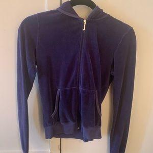 Juicy Couture Purple Velour Jacket size M